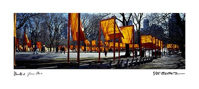 Christo und Jeanne-Claude The Gates Schattenspiel