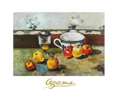 Paul Cezanne Stillleben mit Tasse, Glas und Fruechten II