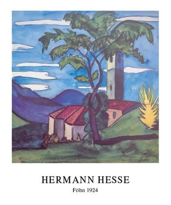 hermann hesse foehn 1924 poster kunstdruck bei. Black Bedroom Furniture Sets. Home Design Ideas