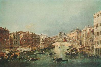 Francesco Guardi Canale Grande mit Rialtobruecke  Venedig