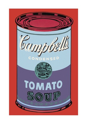 andy warhol campbell 39 s soup can 1965 blue purple poster kunstdruck bei. Black Bedroom Furniture Sets. Home Design Ideas