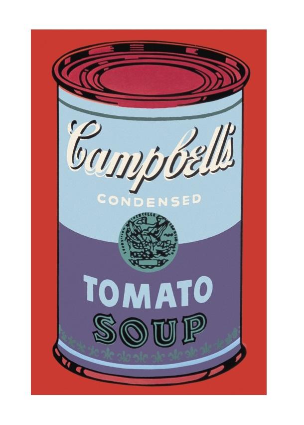 andy warhol campbell 39 s soup can 1965 blue purple poster kunstdruck bei. Black Bedroom Furniture Sets. Home Design Ideas