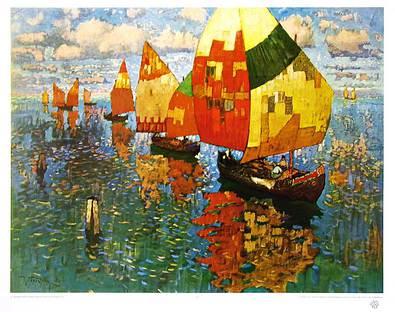 K. Gorbatoff Venetianische Fischerboote