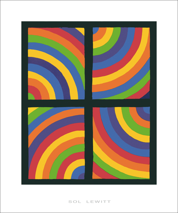 Sol Lewitt Color Arcs in four Directions, 1999