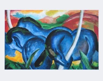 Franz Marc Die grossen blauen Pferde