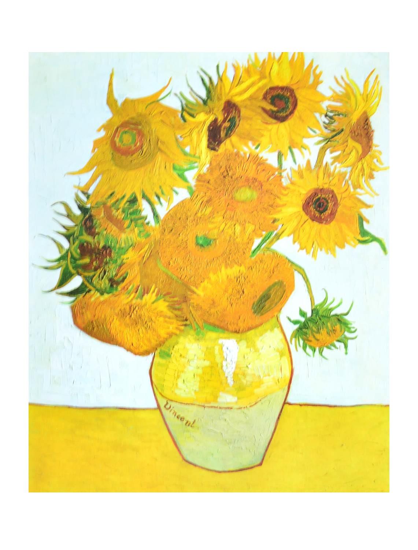 Vincent Van Gogh Die Sonnenblumen Poster Kunstdruck Bei Germanpostersde