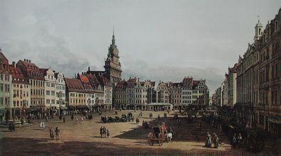 Bernardo Canaletto - Bellotto Der Altmarkt zu Dresden von der Schlossstrasse aus
