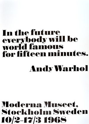 Andy Warhol In the future
