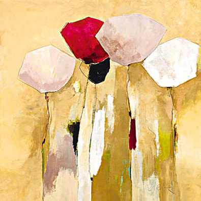 Anne L Strunk White flowers with red 1
