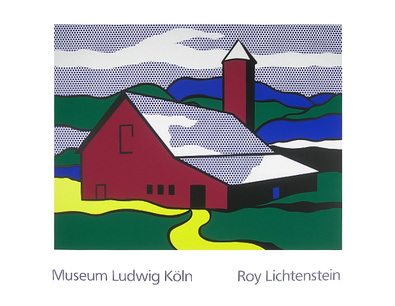 Roy Lichtenstein Red Barn II