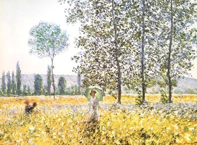 Claude Monet Champs au Printemps