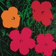Andy Warhol Flowers 1964 1 red 1 yellow 2 pink