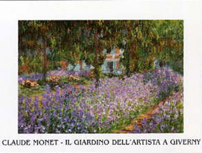Claude Monet Il Giardino a Giverny (Schrift)