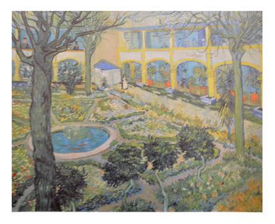 Vincent van Gogh Der Garten des Spitals in Arles