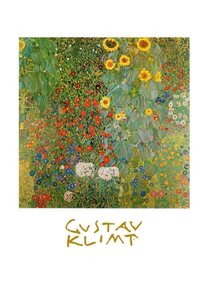 gustav klimt bauerngarten mit sonnenblumen poster. Black Bedroom Furniture Sets. Home Design Ideas