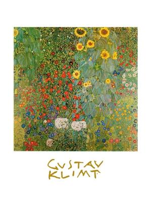 Gustav Klimt Bauerngarten mit Sonnenblumen (mit Schrift)