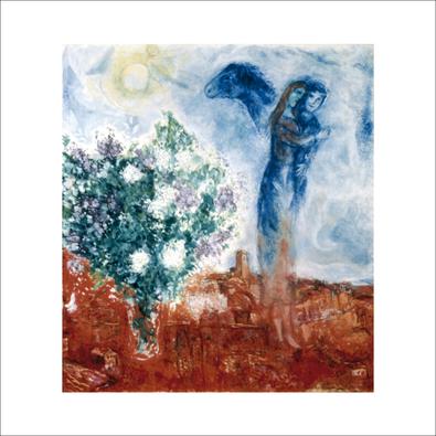Marc Chagall Die liebenden ueber St Paul