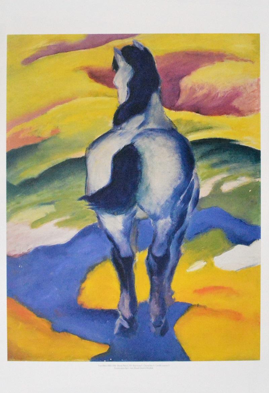 franz marc blaues pferd ii 1911 poster kunstdruck bei. Black Bedroom Furniture Sets. Home Design Ideas
