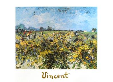 Vincent  van Gogh Il vingneto verde - the green vineyard - la vingne verde