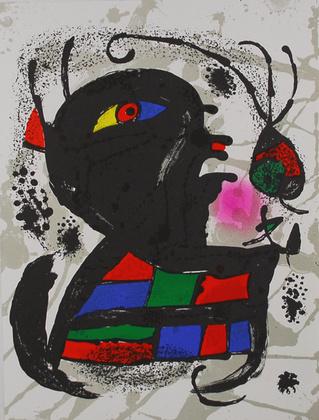 Joan Miro Litografia original V