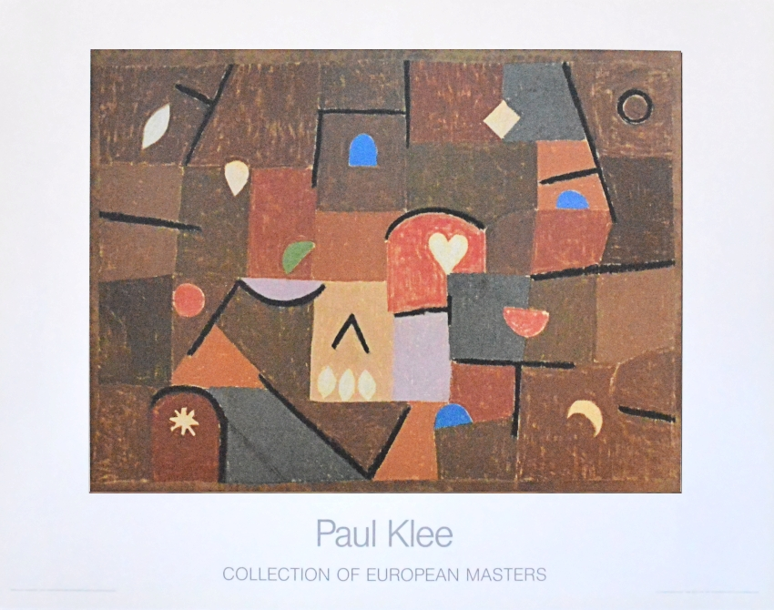 paul klee poster kunstdruck bild kleinode 70x90 cm offset ebay. Black Bedroom Furniture Sets. Home Design Ideas