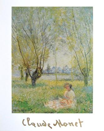 Claude Monet Frau unter Baeumen  1880