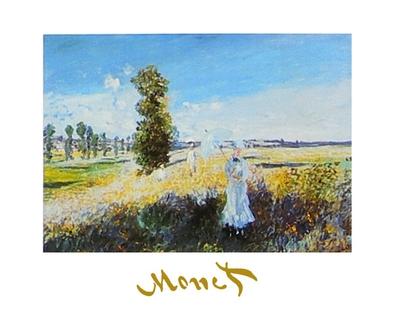 Claude Monet Der Spaziergang (mit Schrift)