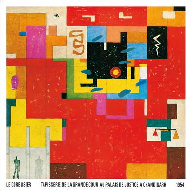 Le Corbusier Wandteppich fuer Chandigarh, 1954