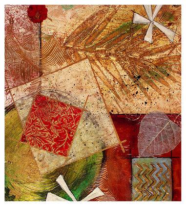 Ludger Heather 2er Set 'Gilded Leaf III + IV'