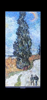 Vincent van Gogh Zypressenweg unter dem Sternenhimmel