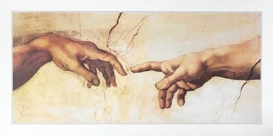 Michelangelo Erschaffung des Adam (Haende)