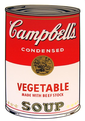 Andy Warhol Campbells Soup - Vegetable