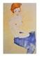 Schiele egon sitzender blauer akt medium