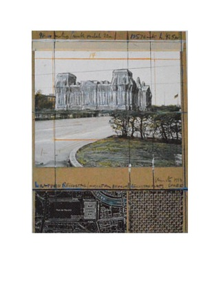 Christo Wrapped Reichstag - Nordportal - Collage 1994
