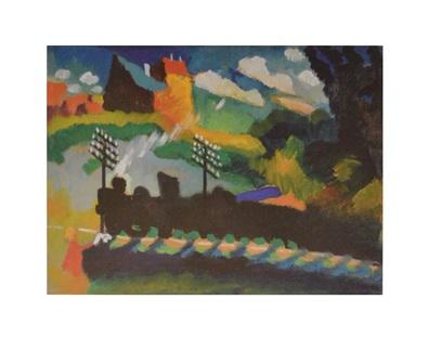 Wassily Kandinsky Eisenbahn bei Murnau, 1909
