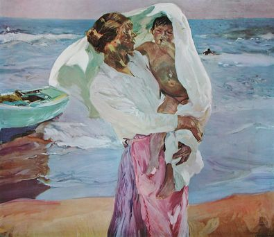 Joaquin y Bastida Sorolla Abtrocknen nach dem Bade