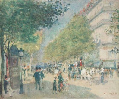 Pierre Auguste Renoir Boulevard im Fruehling