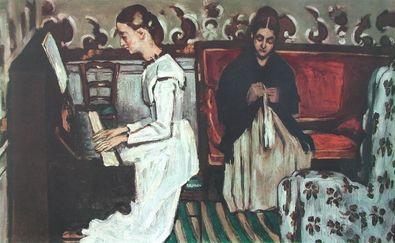 Paul Cezanne Maedchen am Klavier
