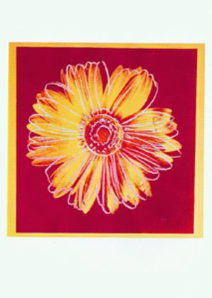 Andy Warhol Daisy red yellow