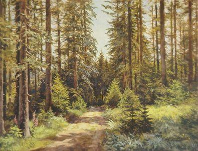Ernst Frommhold Sonniger Waldweg