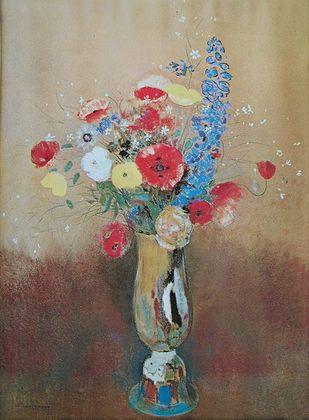 Odilon Redon Blumen in einer Vase (1865)