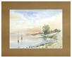 H. Stumpf Landschaft (Boote)