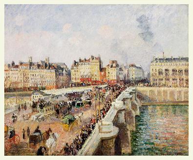Camille Pissarro Afternoon Sunshine, Pont Neuf, 1901