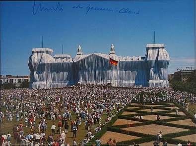 Christo und Jeanne-Claude Reichstag Westportal Frontal, handsigniert