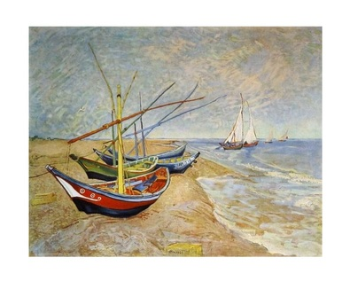 Vincent van Gogh Fischerboote in Saintes-Maries