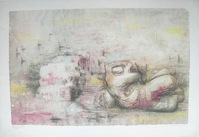 Henri Moore Reclying figure in a landscape