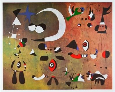 Joan Miro Personen in der Nacht