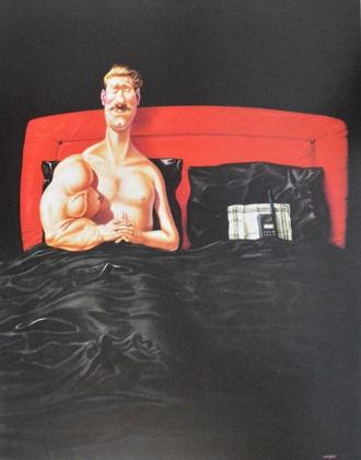 Gerhard  Harderer Im Bett mit