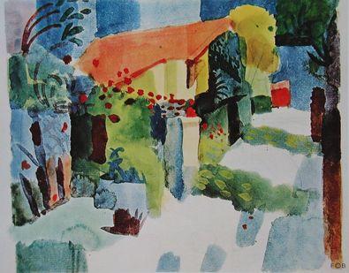 August Macke Haus im Garten  1914