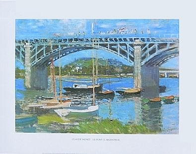 Claude Monet Le Pont a Argenteuil (50x40)